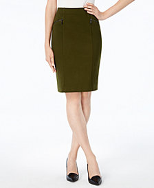 Alfani Ponte Pencil Skirt, Created for Macy's