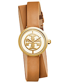 Tory Burch Women's Reva Light Brown Leather Strap Watch 28mm