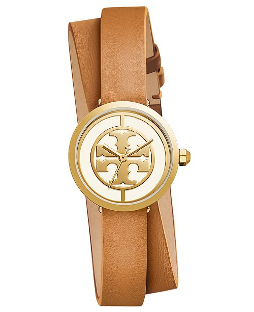 c1de94c5c Tory Burch Women's Reva Light Brown Leather Strap Watch 28mm ...