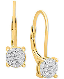 Diamond Cluster Drop Earrings (1/4 ct. t.w.)