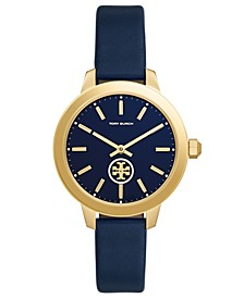 Women's Collins Tory Navy Leather Strap Watch 38mm