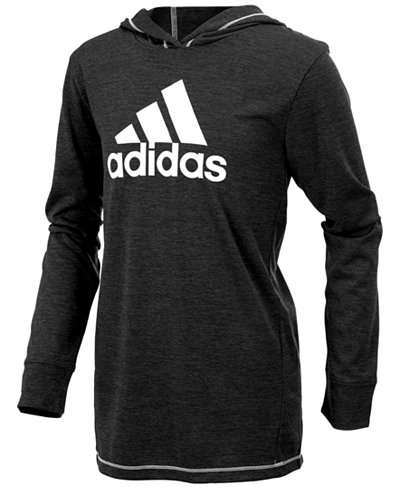 adidas Logo-Print Hooded Sweatshirt, Little Boys