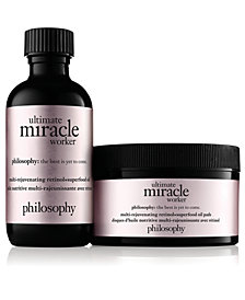 philosophy Ultimate Miracle Worker Multi-Rejuvenating Retinol+Superfood Oil Pads, 15-Pk.