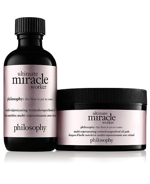 philosophy Ultimate Miracle Worker Multi-Rejuvenating Retinol+Superfood Oil Pads, 15-Pk.