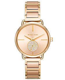 Michael Kors Women's Portia Two-Tone Stainless Steel Bracelet Watch 37mm