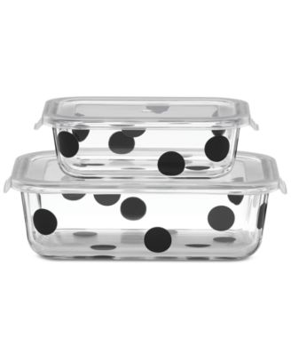 All In Good Taste Deco Dot 2-Container Storage Set