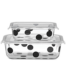 kate spade new york All In Good Taste Deco Dot 2-Container Storage Set