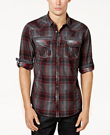 I.N.C. Men's Plaid Shirt, Created for Macy's