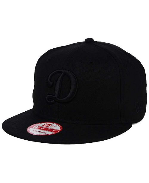 wholesale dealer d287d 0d1c5 ... New Era Los Angeles Dodgers Triple Black 9FIFTY Snapback Cap ...
