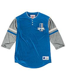 Mitchell & Ness Men's Detroit Lions Home Stretch Henley 2.0 Longsleeve T-Shirt