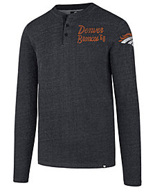 '47 Brand Men's Denver Broncos Grain Henley Top