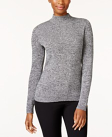 Karen Scott Petite Ribbed-Knit Cotton Turtleneck, Created for Macy's