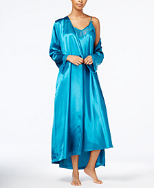Thalia Sodi Lace-Trimmed Nightgown & Wrap Robe Separates, Created for Macy's