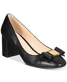 Tali Bow Block-Heel Pumps