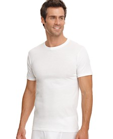Jockey Men's Big & Tall Classic Tag less 2-Pack Crew Undershirts