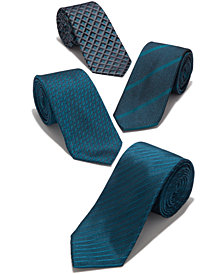 Alfani Men's Geo Slim Tie, Created for Macy's