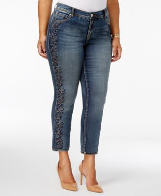 Embroidered Women's Plus Size Jeans - Macy's