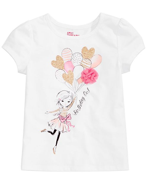 197ccba9 Epic Threads Mix and Match Kristy Birthday Girl Graphic-Print T-Shirt,  Little