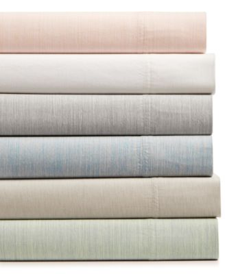 CLOSEOUT! Cotton 525-Thread Count 3-Pc. Yarn-Dyed Twin Sheet Set, Created for Macy's