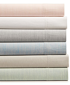 CLOSEOUT! Hotel Collection Cotton 525-Thread Count 3-Pc. Yarn-Dyed Twin XL Sheet Set, Created for Macy's
