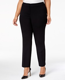 Nine West Plus Size Straight-Leg Pants