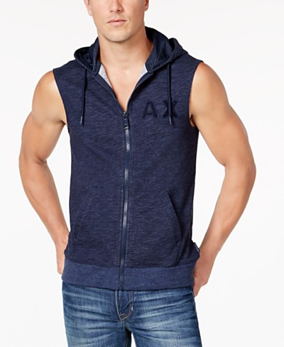 Armani Exchange Men's Zip-Front Hoodie Vest
