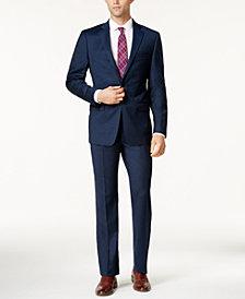 Calvin Klein Men's Extra Slim-Fit Blue Flannel Suit