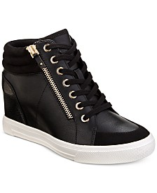 ALDO Kaia Lace-Up Wedge Sneakers, Created For Macy's