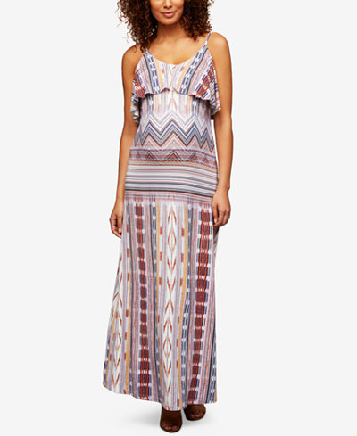Tart Collections Maternity Tiered Maxi Dress