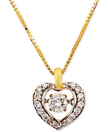 Diamond Heart Pendant Necklace (1/4 ct. t.w.) in 14k Gold