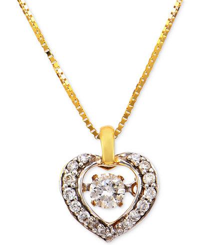 Diamond Heart Pendant Necklace (1/4 ct. t.w.) in 14k Gold
