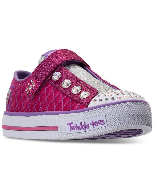 e934abc100a5 ... Skechers Little Girls  Twinkle Toes  Sparkly Jewels Light-Up Casual  Sneakers from Finish ...