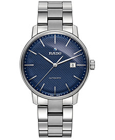 Rado Men's Swiss Automatic Coupole Classic Stainless Steel Bracelet Watch 41mm