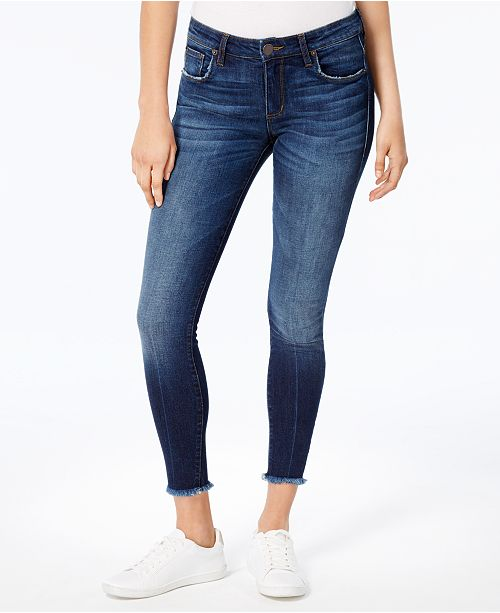 466527639b3 STS Blue Emma Mid Rise Fray-Hem Ankle Skinny Jeans   Reviews - Jeans ...