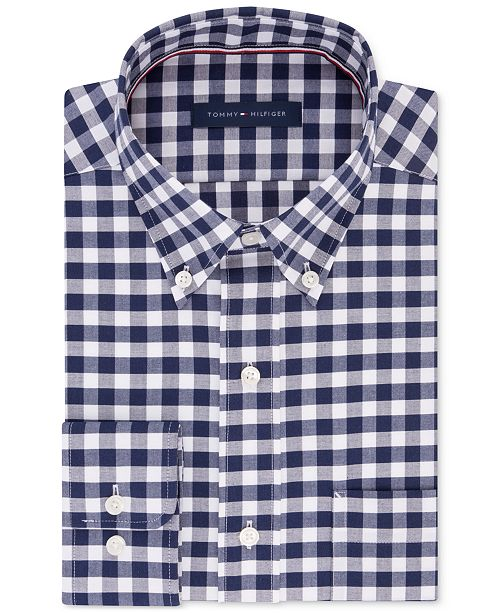 c4c959e1 ... Tommy Hilfiger Men's Regular Fit Non-Iron Gingham Dress Shirt ...