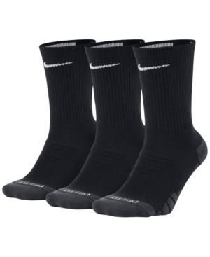 Nike 3-Pk. Dry Cushioned Crew Training Socks