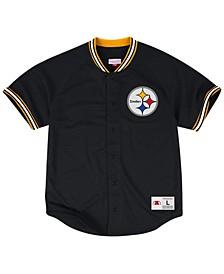 Men's Pittsburgh Steelers Seasoned Pro Mesh Button Front 2.0Shirt
