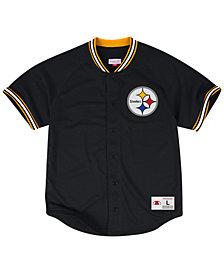 Mitchell & Ness Men's Pittsburgh Steelers Seasoned Pro Mesh Button Front 2.0Shirt