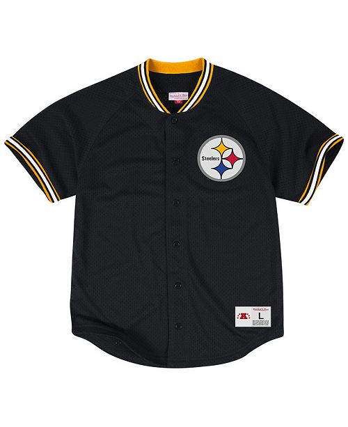 great fit a31de a4dd5 Men's Pittsburgh Steelers Seasoned Pro Mesh Button Front 2.0 Shirt