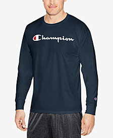 Champion Men's Jersey Long Sleeve Logo T-shirt