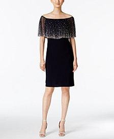 MSK Off-The-Shoulder Embellished Dress