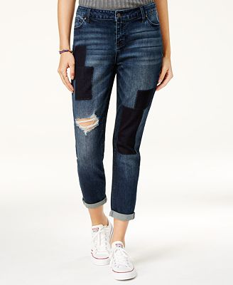 Celebrity Pink Juniors' Ripped Patched Jeans - Juniors Jeans - Macy's