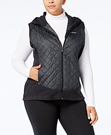 Columbia Plus Size Warmer Days Hooded Fleece Vest