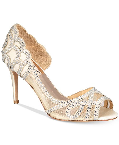 cddae06588d ... Badgley Mischka Marla Embellished Peep-Toe Evening Pumps