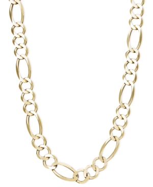 "22"" Men's Figaro Chain Necklace (7-1/5mm) in 14k Gold"