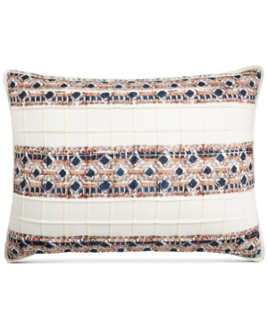 Martha Stewart Collection Pleats  Thank You Quilted Standard Sham Created for Macys