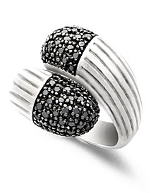 Balissima by EFFY Black Diamond Wrap Ring (5/8 ct. t.w.) in Sterling Silver