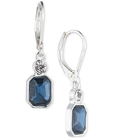 Anne Klein Silver-Tone Stone Drop Earrings