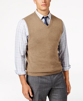 Club Room Mens V Neck Cashmere Sweater Vest Created For Macys