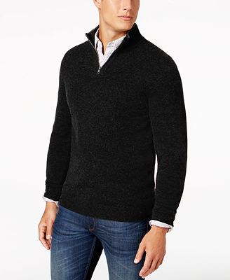 Club Room Men's Quarter-Zip Cashmere Sweater, Created for Macy's ...